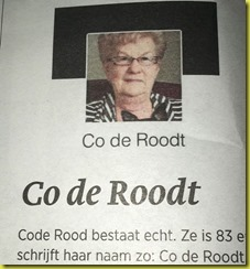 Coderoodt